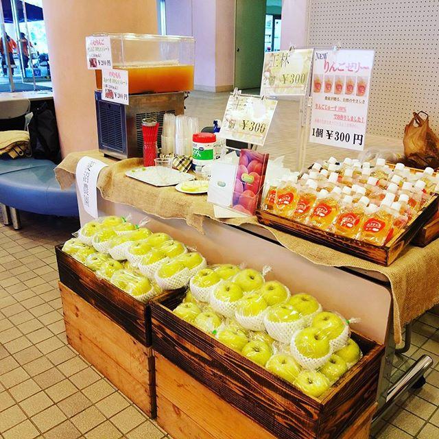 今日と明日の2日間飯坂温泉フードフェスティバルに参加しています。菱沼農園では王林、桃ジュース、りんごジュース、りんごゼリーを販売しております本日は夜7時頃まで開催しております。是非起こし下さい